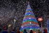Как Украина встретила Новый год. Фейерверк в Никополе