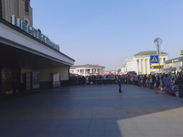 Вокзал Киева заминирован