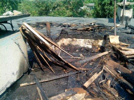 В Орджоникидзе молния ударила в жилой дом!