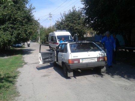Тройное ДТП в Никополе.  Пострадавшим оказана медпомощь