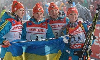 Сочи-2014: Украинские биатлонистки выиграли золото в эстафете