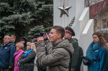 В Орджоникидзе состоялось открытие памятника БМП в честь 25-й годовщины вывода войск из Афганистана (ФОТО)